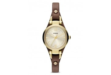 Fossil Georgia Mini Brown Leather Watch ES3264